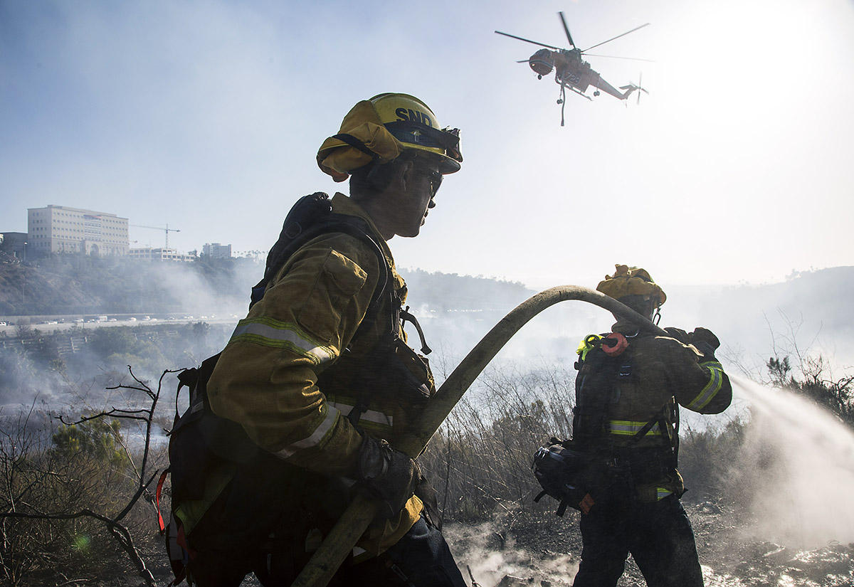 San Diego Brush Fire June 2018 : On Assignment : San Diego Corporate and Event Photographer